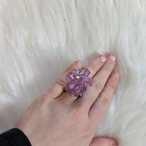 Tarina Tarantino purple crystal Tokyo ring